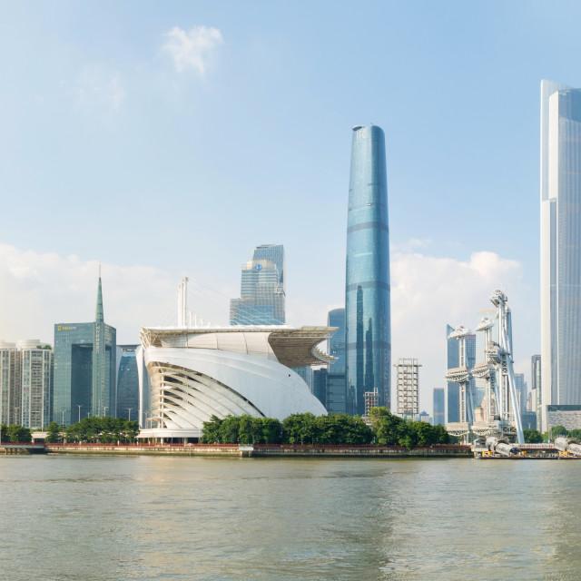 """""""Guangzhou city modern cityscape view, China"""" stock image"""