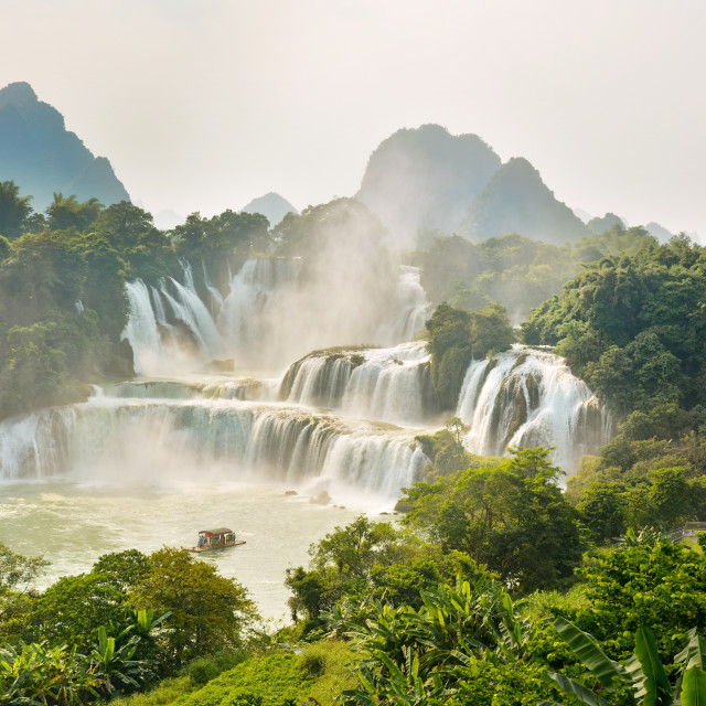 """Detian waterfall in Guangxi, China"" stock image"