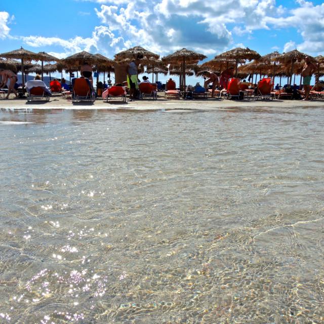 """Beach time Elafonissi (Creta)"" stock image"
