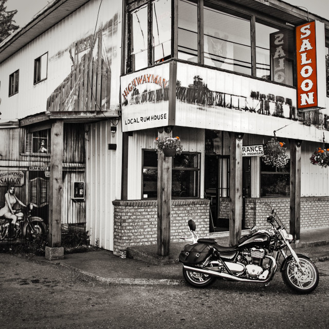 """Triumph Thunderbird at Saloon"" stock image"