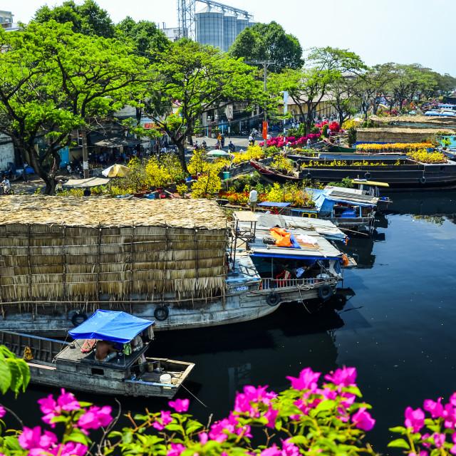 """Binh Dong boat landing"" stock image"