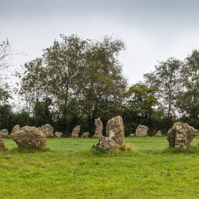 """The Rollright Stones"" stock image"