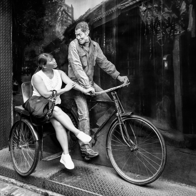 """""""Bicycle for two"""" stock image"""