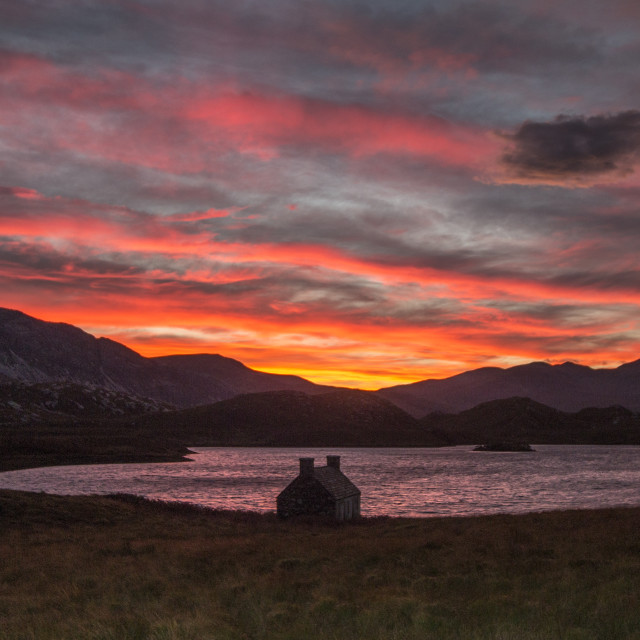 """Loch Stack Sunrise"" stock image"