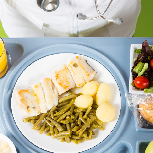 """Meal tray of a hospital"" stock image"