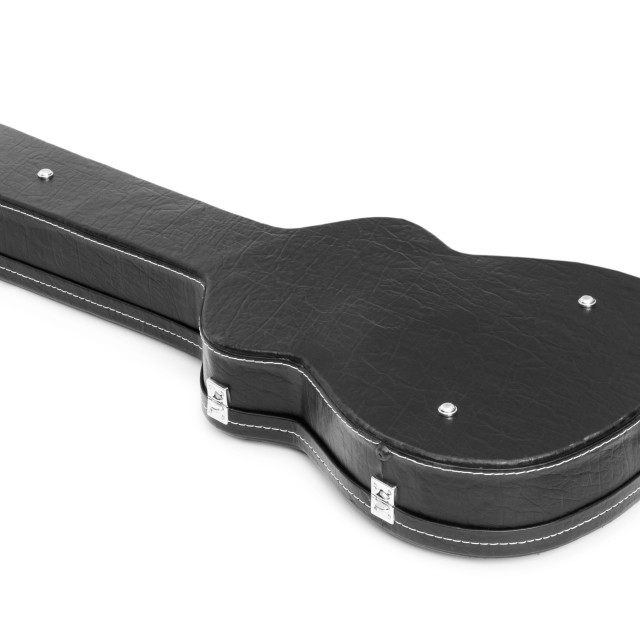 """Guitar case isolated on the white background"" stock image"