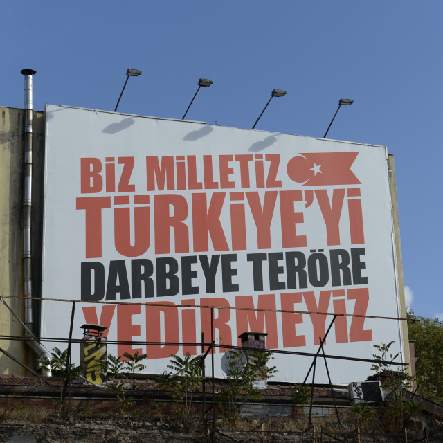 """""""Anti Terror poster of the Turkish government in Istanbul, Turkey"""" stock image"""