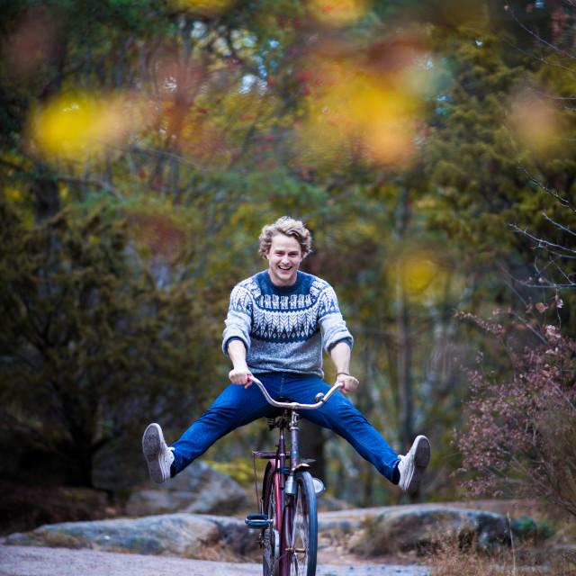"""Happy Bike Ride"" stock image"