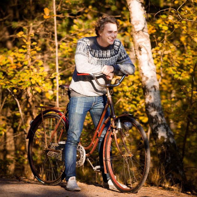 """Autumn Biking"" stock image"
