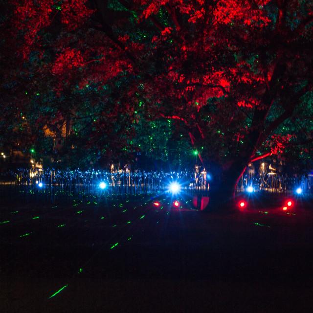 """White Night Bratislava 2016 - President Palace Garden"" stock image"