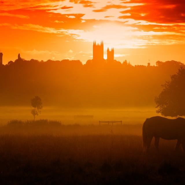 """Sunrise, Lincoln"" stock image"