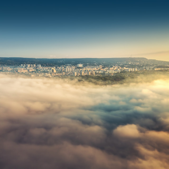 """""""Flying above the clouds"""" stock image"""