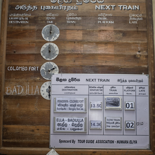 """Train schedule in Sri Lanka"" stock image"