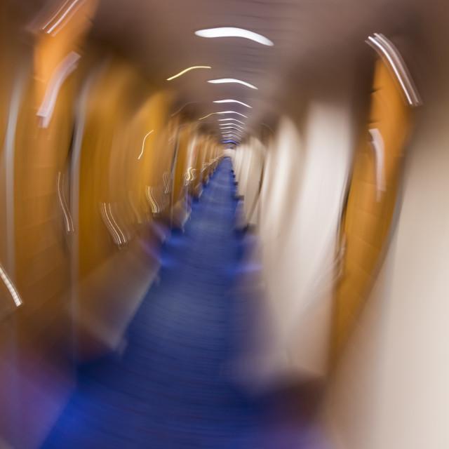 """Motion Blurred Corridor"" stock image"