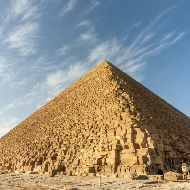 """Pyramid of Khufu (Cheops), Giza"" stock image"