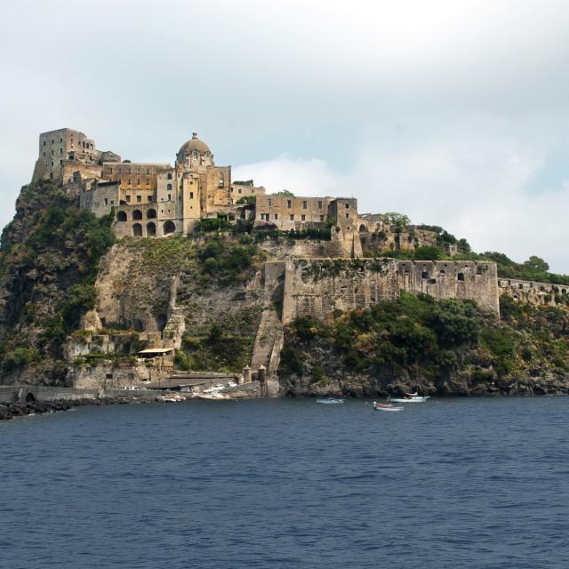 """Castello Aragonese"" stock image"