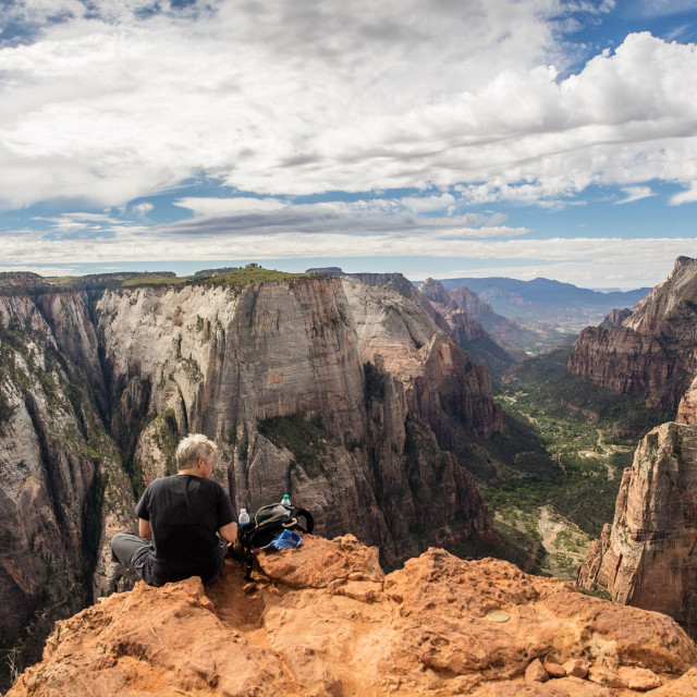 """""""Observation Point Zion"""" stock image"""