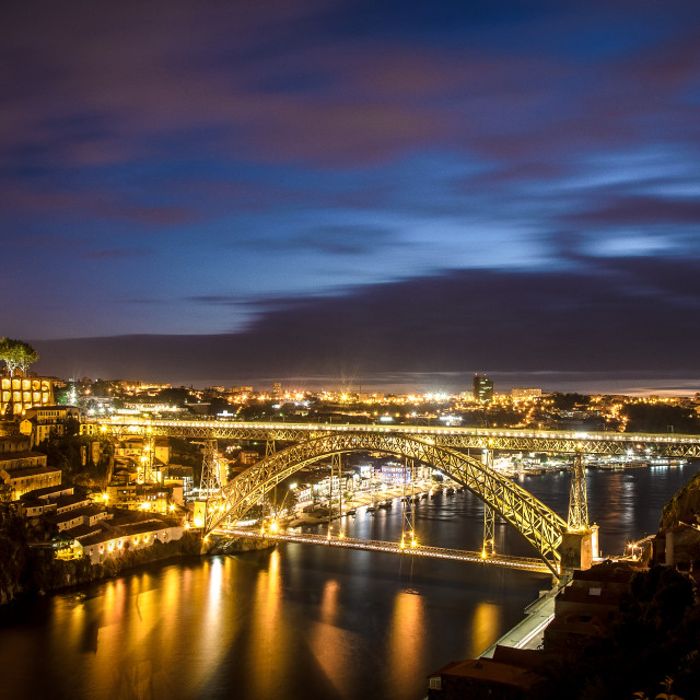 """Night Porto"" stock image"