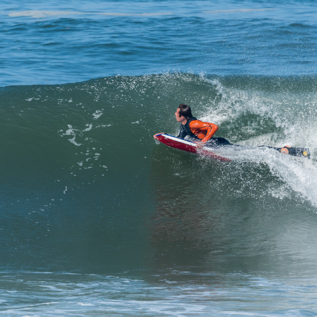 """""""Bodyboarder in action"""" stock image"""