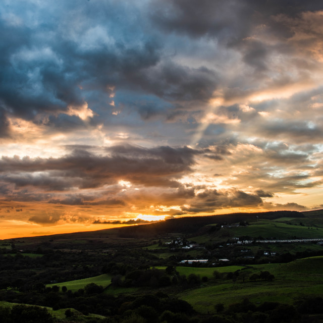 """""""South Wales Sunset."""" stock image"""