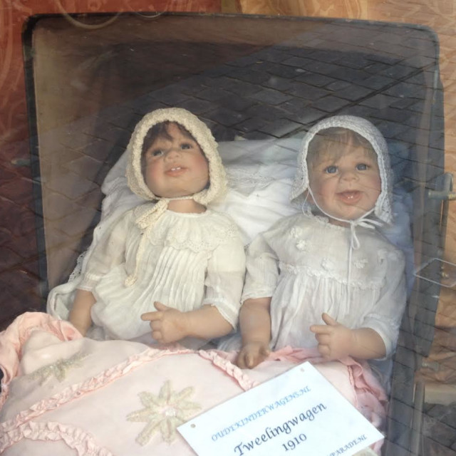 """Vintage twin dolls"" stock image"