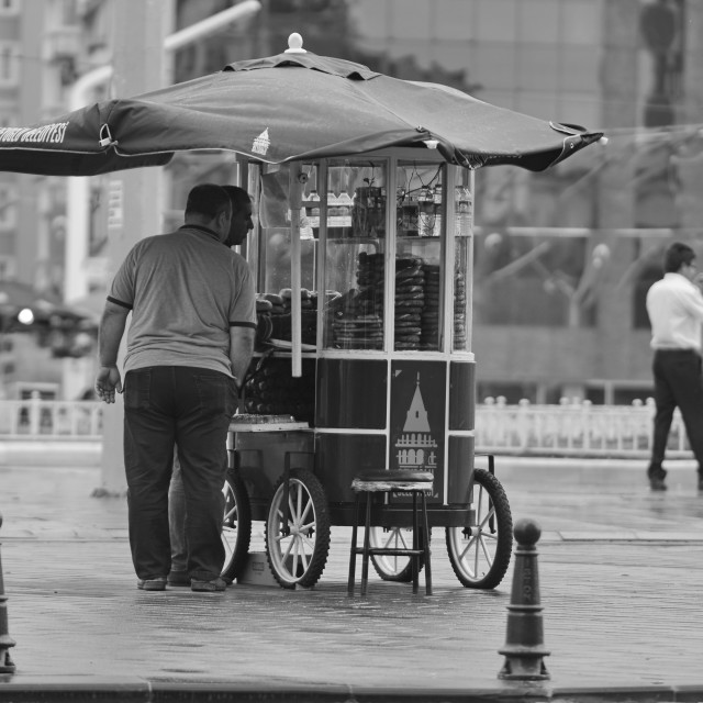 """""""Simit seller at Taksim Square in Istanbul"""" stock image"""