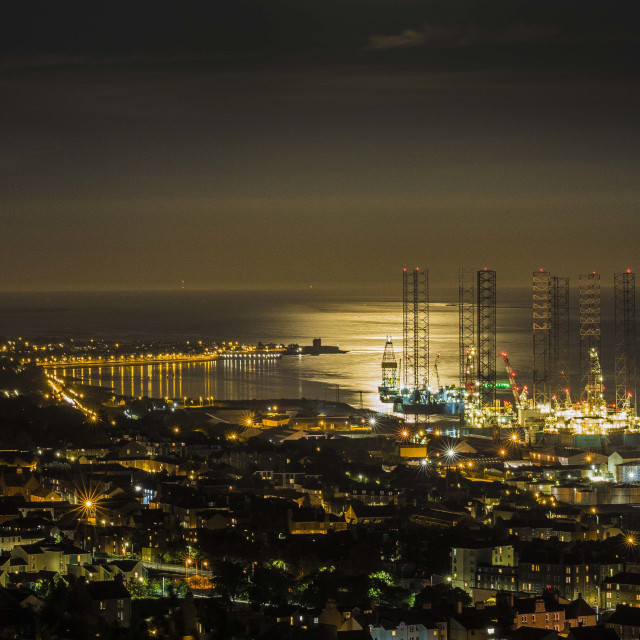 """""""Dundee at night"""" stock image"""
