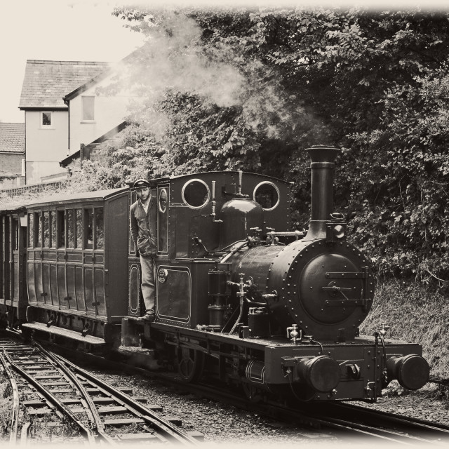 """'Last Train of 1950' re-enactment on the TalyllynRailway"" stock image"