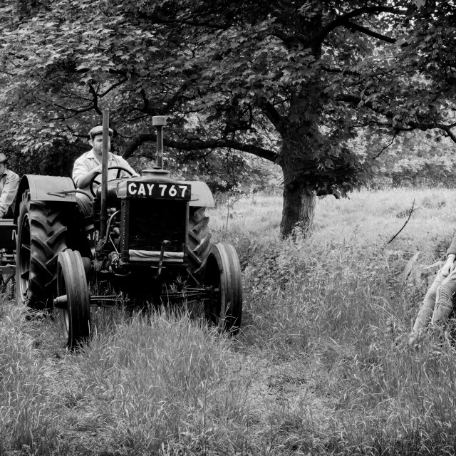 """1940's English farm scene"" stock image"