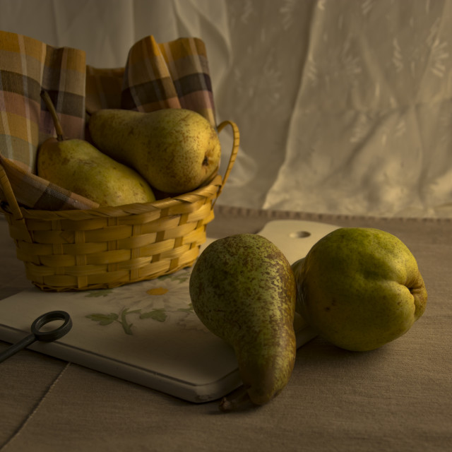 """Basket of pears"" stock image"