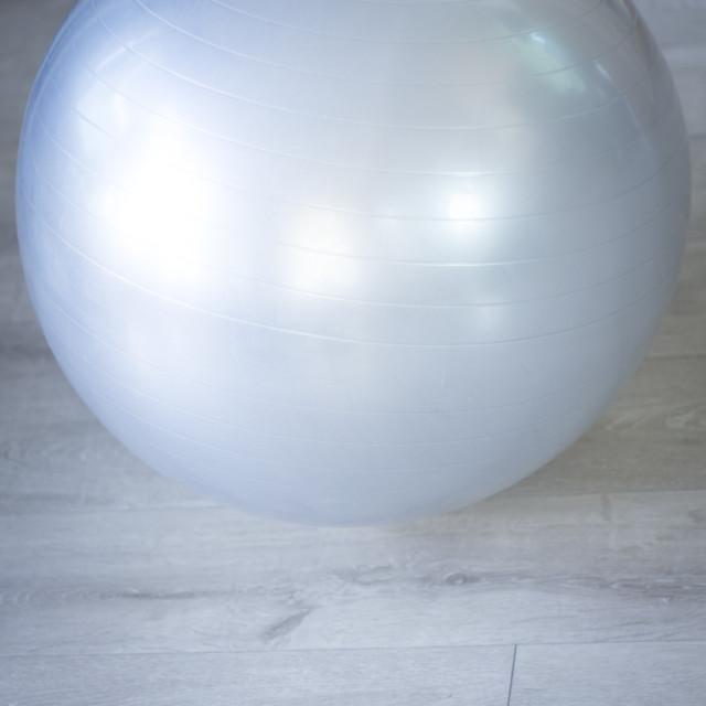 """Gym exercise pilates ball"" stock image"