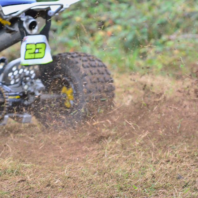 """Rider on a quad motorbike."" stock image"