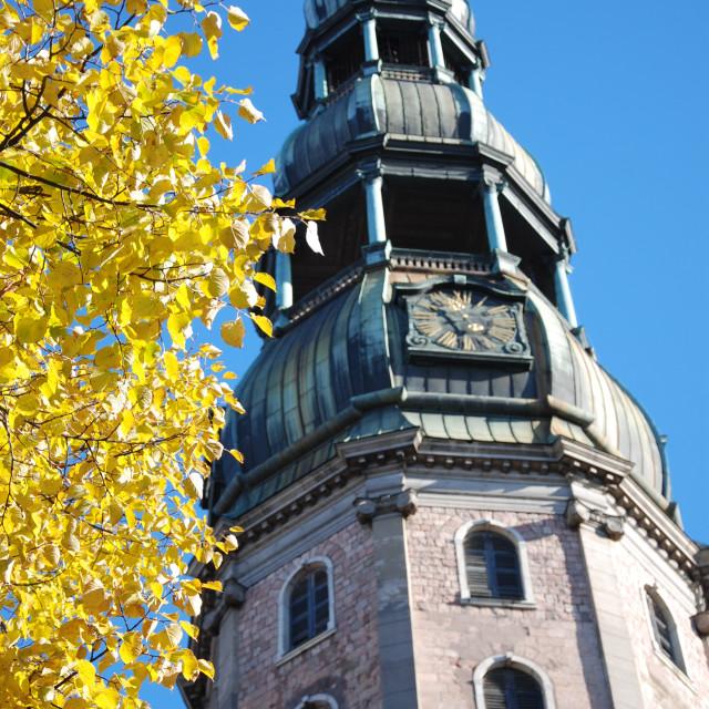 """St. Peter's Church, Riga, Latvia"" stock image"