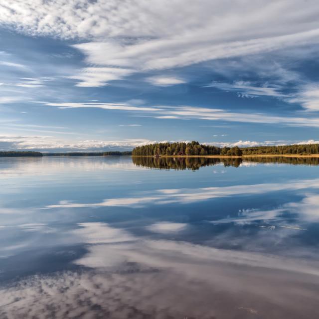 """Swedish lake"" stock image"