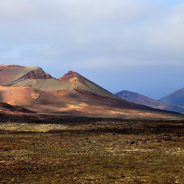 """""""Lanzarote Timanfaya Natural Park"""" stock image"""