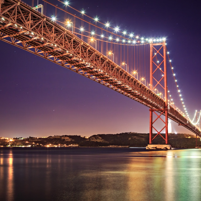 """The Ponte 25 de Abril Bridge"" stock image"