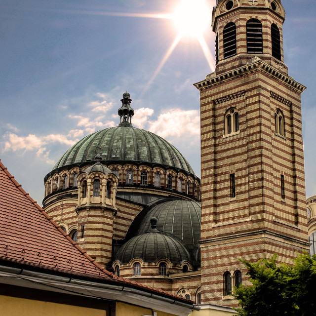 """""""Holy Trinity cathedral in Sibiu, Romania"""" stock image"""