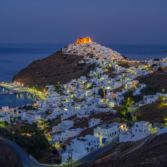 """Astypalaia island at night"" stock image"