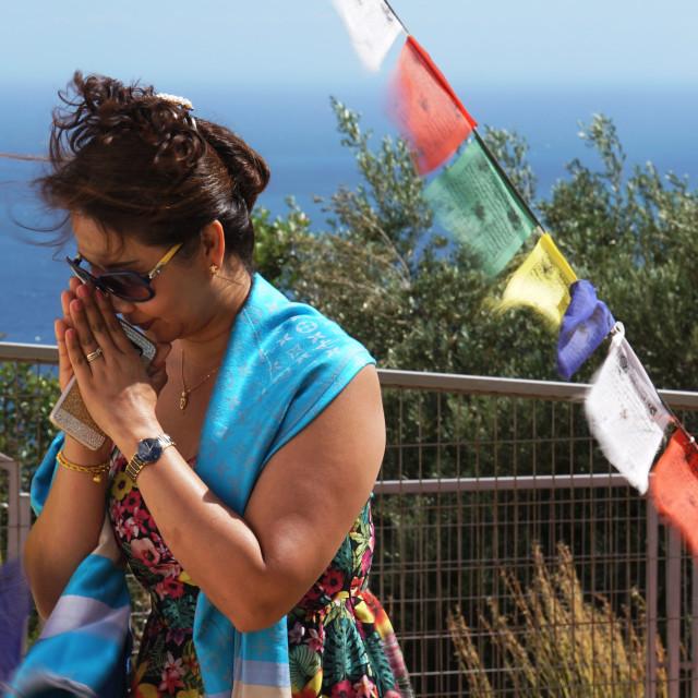 """""""Buddhist Prayer"""" stock image"""