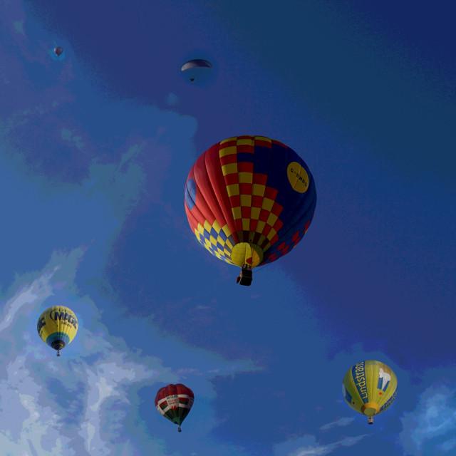 """""""Digital Balloon Art"""" stock image"""