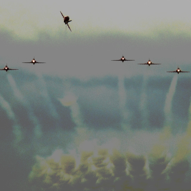 """""""The Red Arrows Experience"""" stock image"""