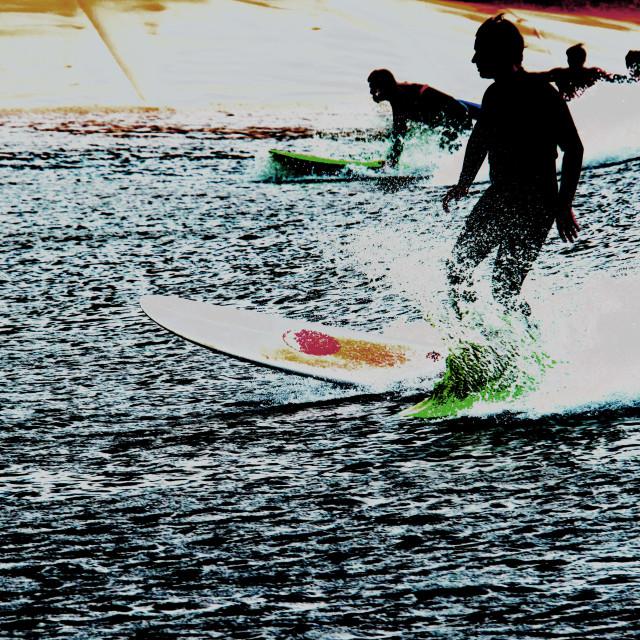 """Digital Surfing"" stock image"