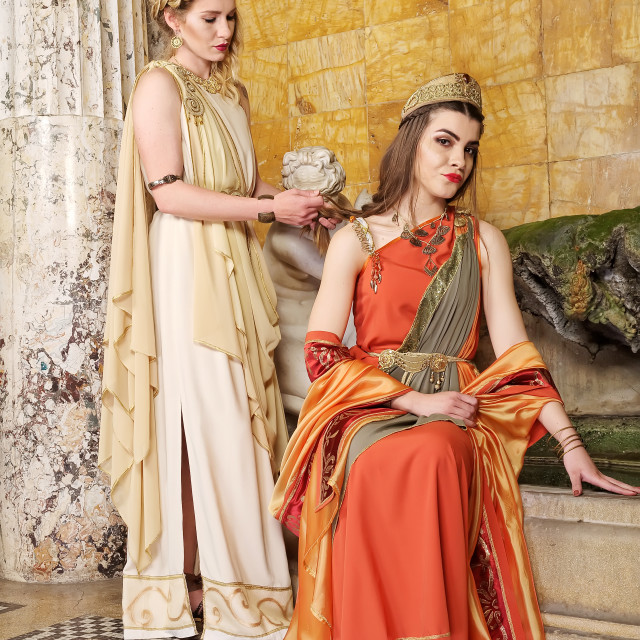 """Roman women"" stock image"