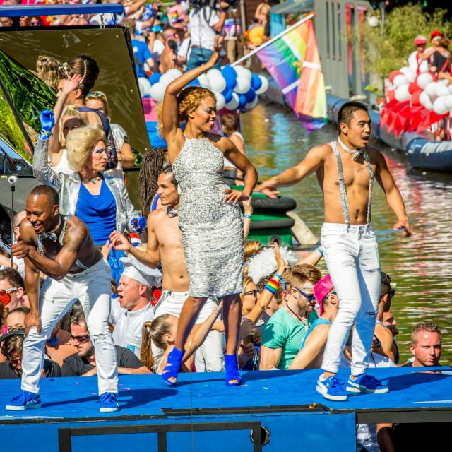 """Dancing at Gay-Pride celebrations."" stock image"