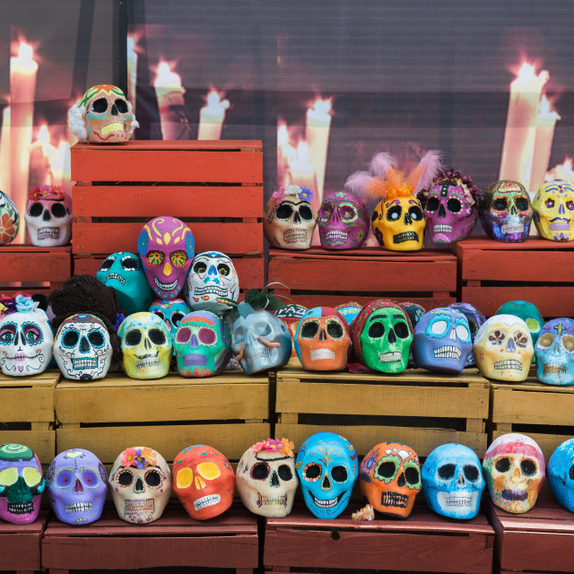 """A religious offering on day of the dead (halloween) in mexico"" stock image"