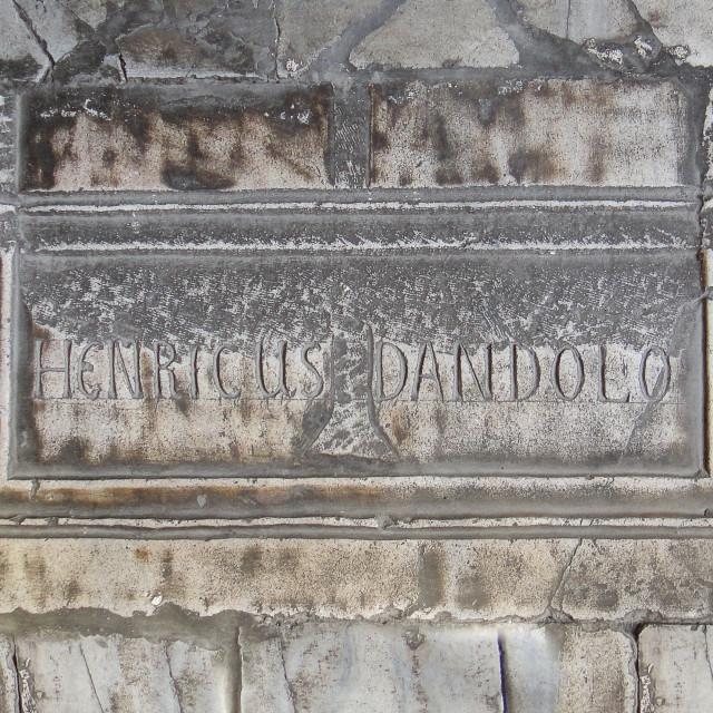 """""""Tomb of Enrico Dandolo in Hagia Sofia"""" stock image"""