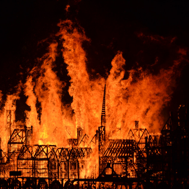 """Great Fire 350"" stock image"