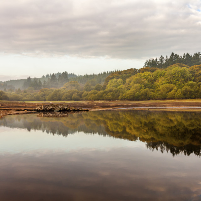 """Fernworthy Reservoir-Dartmoor National Park"" stock image"