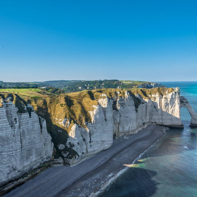 """Cliffs of Étretat"" stock image"