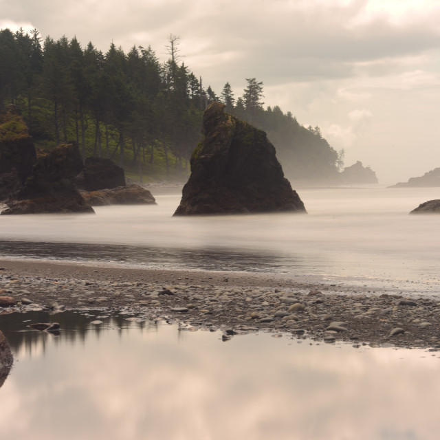 """The Coast of Oregon"" stock image"